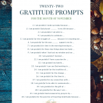 22 Gratitude Prompts Nov 2018